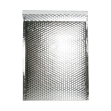 JAM Paper® 12in. x 15 1/2in. Open End Metallic Bubble Envelopes w/Peel and Seal Closure, Silver, 12/Pack