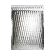 "JAM Paper® 12"" x 15 1/2"" Open End Metallic Bubble Envelopes w/Peel and Seal Closure, Silver, 12/Pack"