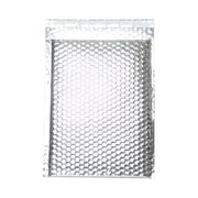 "JAM Paper® 9"" x 12"" Open End CatalogMetallic Bubble Envelopes w/Peel and Seal Closure, Silver, 12/Pack"