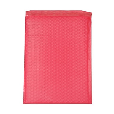 JAM Paper® 9in. x 12in. Open End Matte Bubble Envelopes w/Peel and Seal Closure, Matte Red, 12/Pack