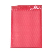 JAM Paper® 10 x 13 Open End Matte Bubble Envelopes w/Peel and Seal Closure, Matte Red, 12/Pack