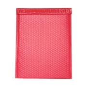 JAM Paper® 12 x 15 1/2 Open End Matte Bubble Envelopes w/Peel and Seal Closure, Matte Red, 12/Pack