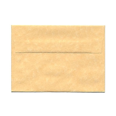 JAM Paper® 4bar A1 Envelopes, 3.63 x 5 1/8, Parchment Antique Gold Yellow Recycled, 100/Pack (90090522g)