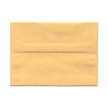 JAM Paper® A6 Invitation Envelopes, 4.75 x 6.5, Parchment Antique Gold Yellow Recycled, 100/Pack (56721g)