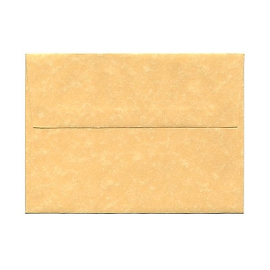 JAM Paper® A7 Invitation Envelopes, 5.25 x 7.25, Parchment Antique Gold Yellow Recycled, 100/Pack (78758g)