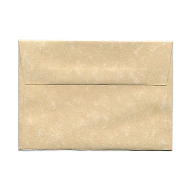 JAM Paper® 4bar A1 Envelopes, 3 5/8 x 5 1/8, Parchment Brown Recycled, 25/pack (900755332)