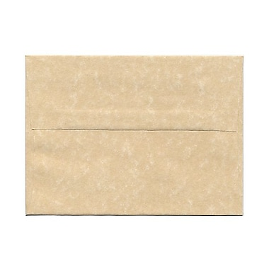 JAM Paper® A6 Invitation Envelopes, 4.75 x 6.5, Parchment Brown Recycled, 25/pack (35220)
