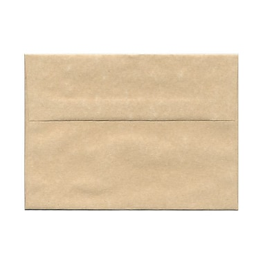 JAM Paper® A7 Invitation Envelopes, 5.25 x 7.25, Parchment Brown Recycled, 100/Pack (35311g)