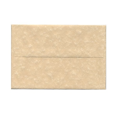 JAM Paper® A8 Invitation Envelopes, 5.5 x 8.125, Parchment Brown Recycled, 100/Pack (52066g)