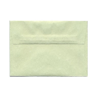 JAM Paper® 4bar A1 Envelopes, 3.63 x 5 1/8, Parchment Green Recycled, 100/Pack (900826112g)