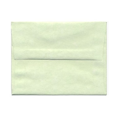 JAM Paper® A2 Invitation Envelopes, 4.38 x 5.75, Parchment Green Recycled, 100/Pack (75066g)