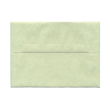 JAM Paper® A7 Invitation Envelopes, 5.25 x 7.25, Parchment Green Recycled, 100/Pack (519g)