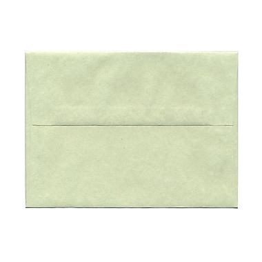 JAM PaperMD – Enveloppes en papier-parchemin recyclé avec fermeture gommée, 5 1/4 x 7 1/4 po, vert, pqt/100