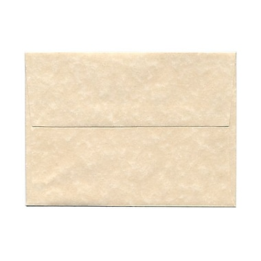 JAM Paper® A6 Invitation Envelopes, 4.75 x 6.5, Parchment Natural Recycled, 100/Pack (34926g)