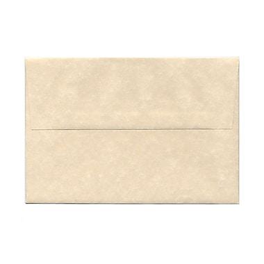 JAM PaperMD – Enveloppes en papier-parchemin recyclé avec fermeture gommée, 5 1/2 x 8 1/8 po, naturel, 100/paquet