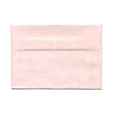 JAM Paper® 4bar A1 Envelopes, 3.63 x 5 1/8, Parchment Pink Recycled, 100/Pack (123456g)