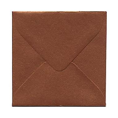 JAM Paper® 3 1/8in. x 3 1/8in. Square Stardream Metallic Envelopes w/Gum Closure, Copper, 1000/Pack