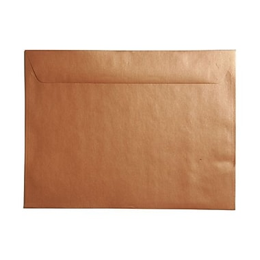 JAM Paper® 9in. x 12in. Booklet Stardream Metallic Envelopes, Copper, 25/Box