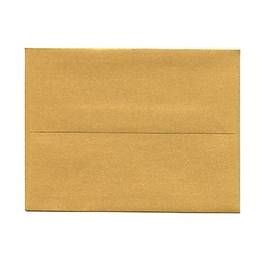 JAM Paper® 4 3/8in. x 5 3/4in. Booklet Stardream Metallic Envelopes w/Gum Closure, Gold, 1000/Pack