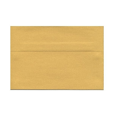 JAM Paper® 5 1/2in. x 8 1/8in. Booklet Stardream Metallic Envelopes w/Gum Closure, Gold, 25/Pack