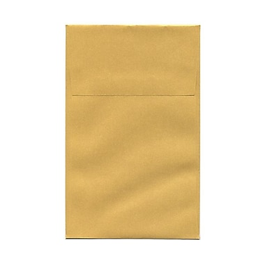 JAM Paper® A10 Policy Envelopes, 6 x 9.5, Stardream Metallic Gold, 50/Pack (v018304g)