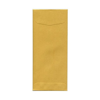 JAM Paper® #10 Policy Envelopes, 4 1/8 x 9.5, Stardream Metallic Gold, 1000/Pack (1261602B)