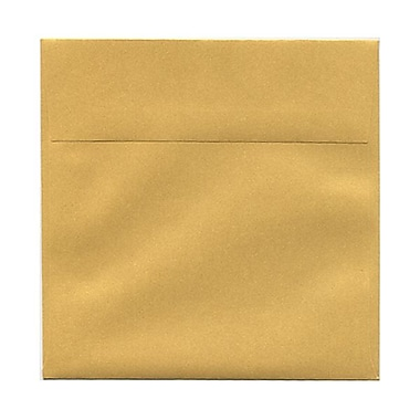 JAM Paper® 6in. x 6in. Square Stardream Metallic Envelopes w/Gum Closure, Gold, 1000/Pack