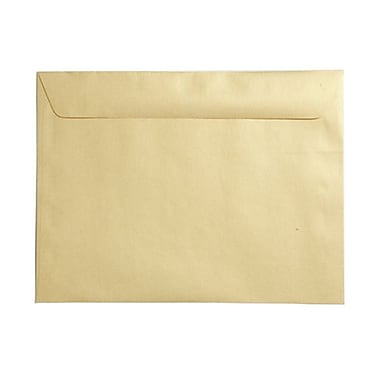 JAM Paper® 9 x 12 Booklet Envelopes, Stardream Metallic Gold, 1000/Pack (V018321B)