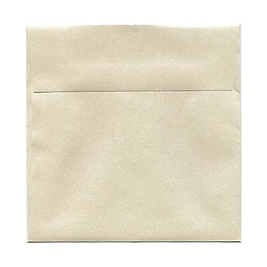 JAM Paper® 6in. x 6in. Square Stardream Metallic Envelopes w/Gum Closure, Opal Ivory, 1000/Pack
