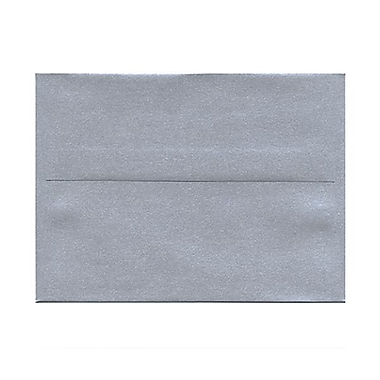 JAM Paper® 4 3/4in. x 6 1/2in. Booklet Stardream Metallic Envelopes w/Gum Closure, Silver, 1000/Pack