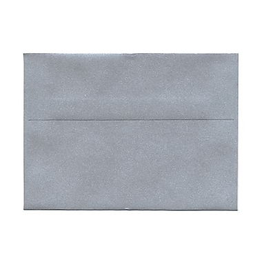 JAM Paper® 5 1/4in. x 7 1/4in. Booklet Stardream Metallic Envelopes w/Gum Closure, Silver, 1000/Pack