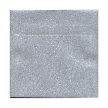 JAM Paper® 6in. x 6in. Square Stardream Metallic Envelopes w/Gum Closure, Silver, 1000/Pack