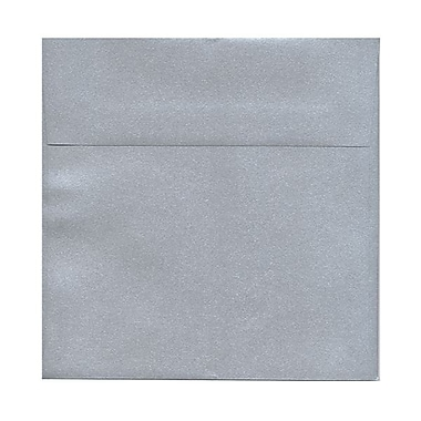 JAM Paper® 8 1/2in. x 8 1/2in. Square Stardream Metallic Envelopes w/Gum Closure, Silver, 1000/Pack