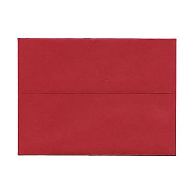 JAM Paper® A6 Invitation Envelopes, 4.75 x 6.5, Stardream Metallic Jupiter Red, 50/Pack (v018263g)