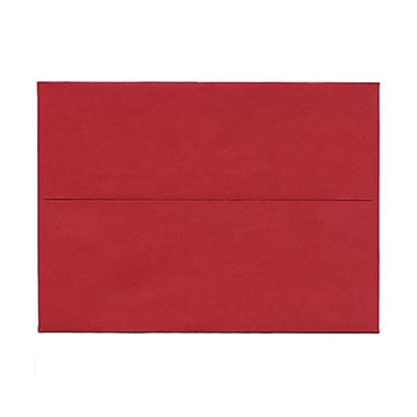 JAM Paper® A7 Invitation Envelopes, 5.25 x 7.25, Stardream Metallic Jupiter Red, 50/Pack (SD5380 20g)