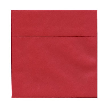 JAM Paper® 6in. x 6in. Square Stardream Metallic Envelopes w/Gum Closure, Jupiter Red, 1000/Pack