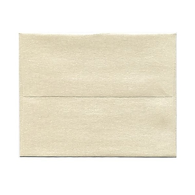 JAM Paper® 4 3/8in. x 5 3/4in. Booklet Stardream Metallic Envelopes w/Gum Closure, Opal Ivory, 1000/Pack