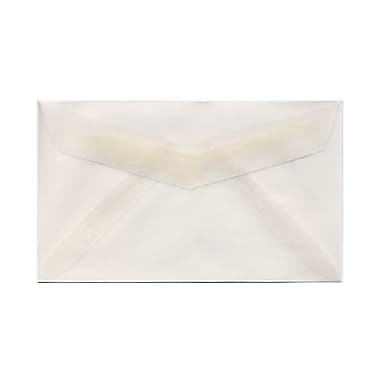 JAM Paper® 2Pay Mini Small Envelopes, 2.5 x 4.25, Clear Translucent Vellum, 1000/Pack (900767740B)