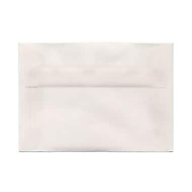 JAM Paper® 4bar A1 Envelopes, 3.63 x 5 1/8, Clear Translucent Vellum, 1000/Pack (900797921B)