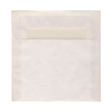 JAM Paper® 7.5 x 7.5 Square Envelopes, Clear Translucent Vellum, 1000/Pack (81981B)