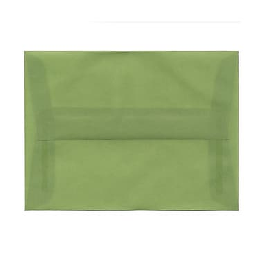 JAM Paper® A6 Invitation Envelopes, 4.75 x 6.5, Leaf Green Translucent Vellum, 100/Pack (PACV653g)
