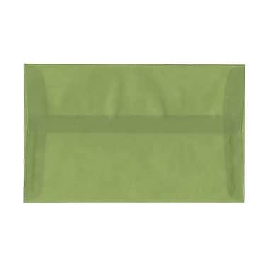 JAM Paper® A10 Invitation Envelopes, 6 x 9.5, Leaf Green Translucent Vellum, 1000/Pack (PACV853B)