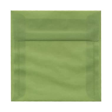 JAM Paper® 5.5 x 5.5 Square Envelopes, Leaf Green Translucent Vellum, 100/Pack (1591908g)
