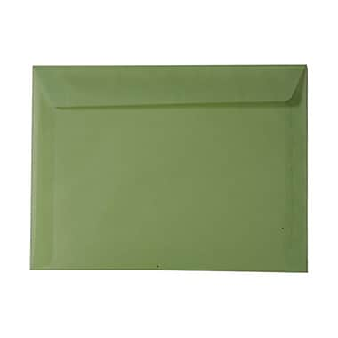 JAM Paper® 9in. x 12in. Translucent Vellum Booklet Envelopes, Leaf Green, 25/Pack