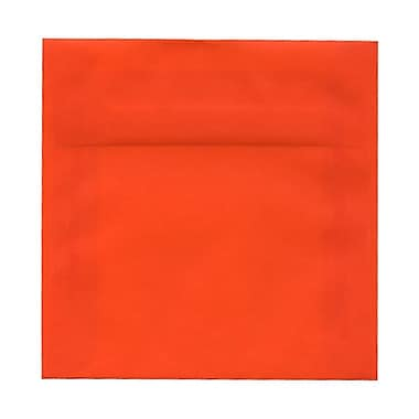 JAM Paper® 6.5 x 6.5 Square Envelopes, Glamour Orange Translucent Vellum, 100/pack (1592120B)
