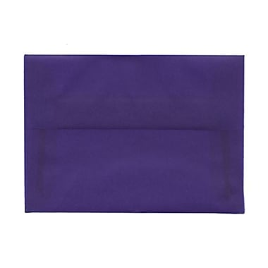 JAM Paper® 4bar A1 Envelopes, 3.63 x 5 1/8, Purple Translucent Vellum, 100/Pack (1591620g)