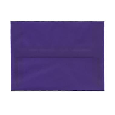 JAM Paper® A6 Invitation Envelopes, 4.75 x 6.5, Purple Translucent Vellum, 100/Pack (PACV657g)