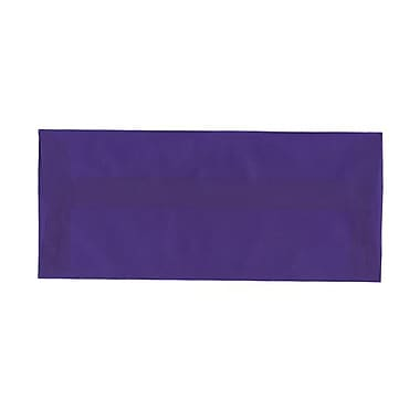JAM Paper® #10 Business Envelopes, 4 1/8 x 9.5, Purple Translucent Vellum, 100/Pack (PACV357g)
