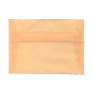 JAM Paper® A10 Invitation Envelopes, 6 x 9.5, Spring Ochre Ivory Translucent Vellum, 25/pack (PACV850)