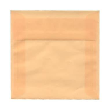 JAM PaperMD – Enveloppes carrées en vélin translucide avec ferm. gom., 6 x 6 po, ivoire ocre printemps, 1000/paquet